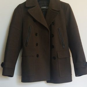 Men's Express double breasted pea coat